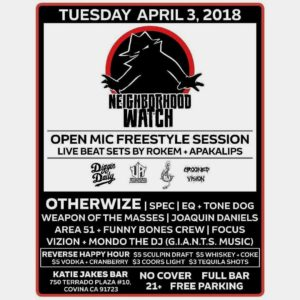 Going down April 3rd at  ... AREA 51 CREW   and the infamous  rocking a set... a...