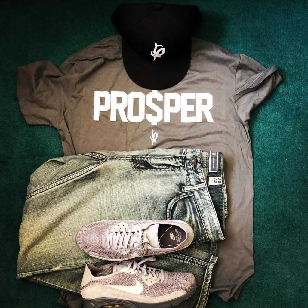 Pro$per F$P Fitted Cap PRO$PER T-shirt Nike and INC jeans on the assist.  . #oot...