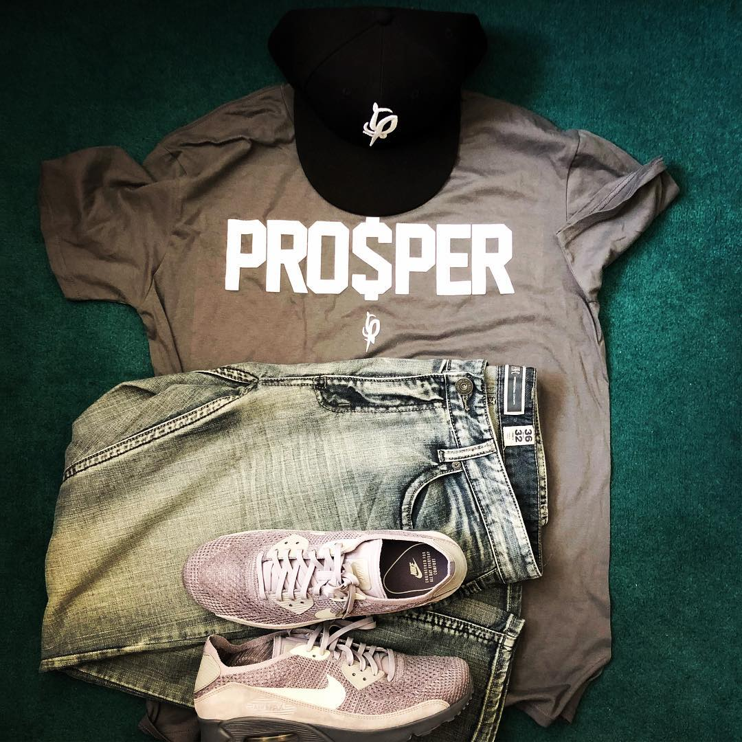 Pro$per F$P Fitted Cap PRO$PER T-shirt Nike and INC jeans on the assist.  . #oot... 1