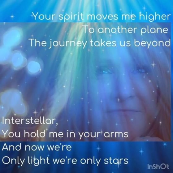 Your spirit moves me higher To another plane The journey takes us beyond Interst...