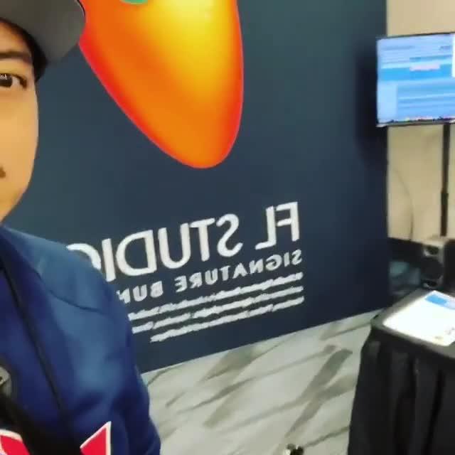 At the FL Studio booth trying to win an FL Studio Box! #flstudionamm @amjr51 via... 1