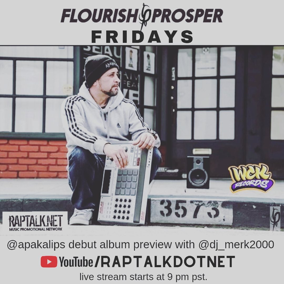 Tune in tomorrow 9pm #westcoast  YouTube/Raptalkdotnet live streaming with @apak... 1
