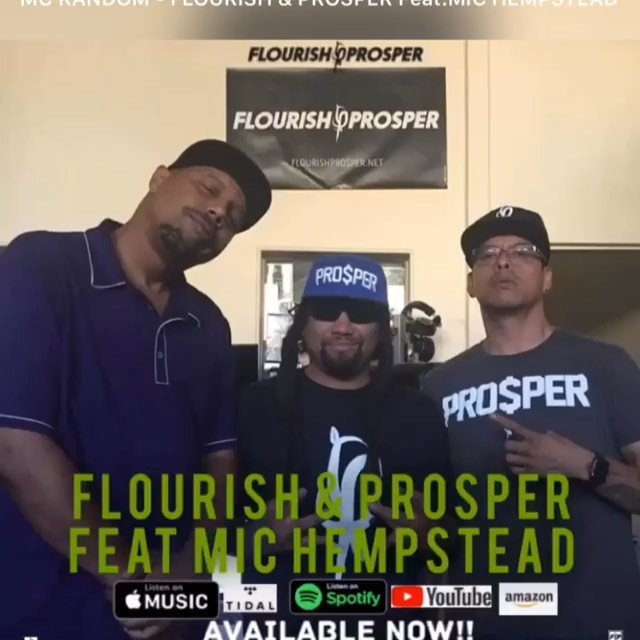 "#Repost @mic_hempstead ・・・ (((New Music Alert ))) Mc Random ""Flourish & Prosper ... 1"