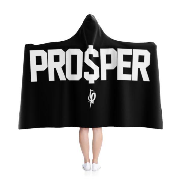 Black PRO$PER Hooded Blanket 1