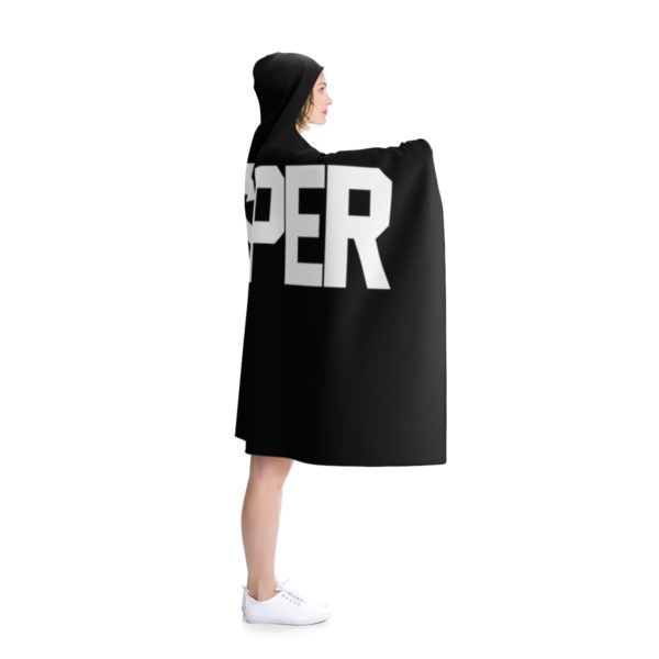 Black PRO$PER Hooded Blanket 3