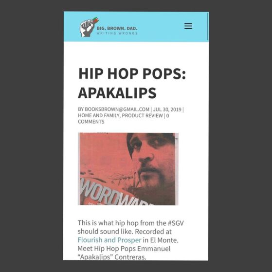 @big_brown_dad features @apakalips in his latest blog - check it out  Hip Hop Po...