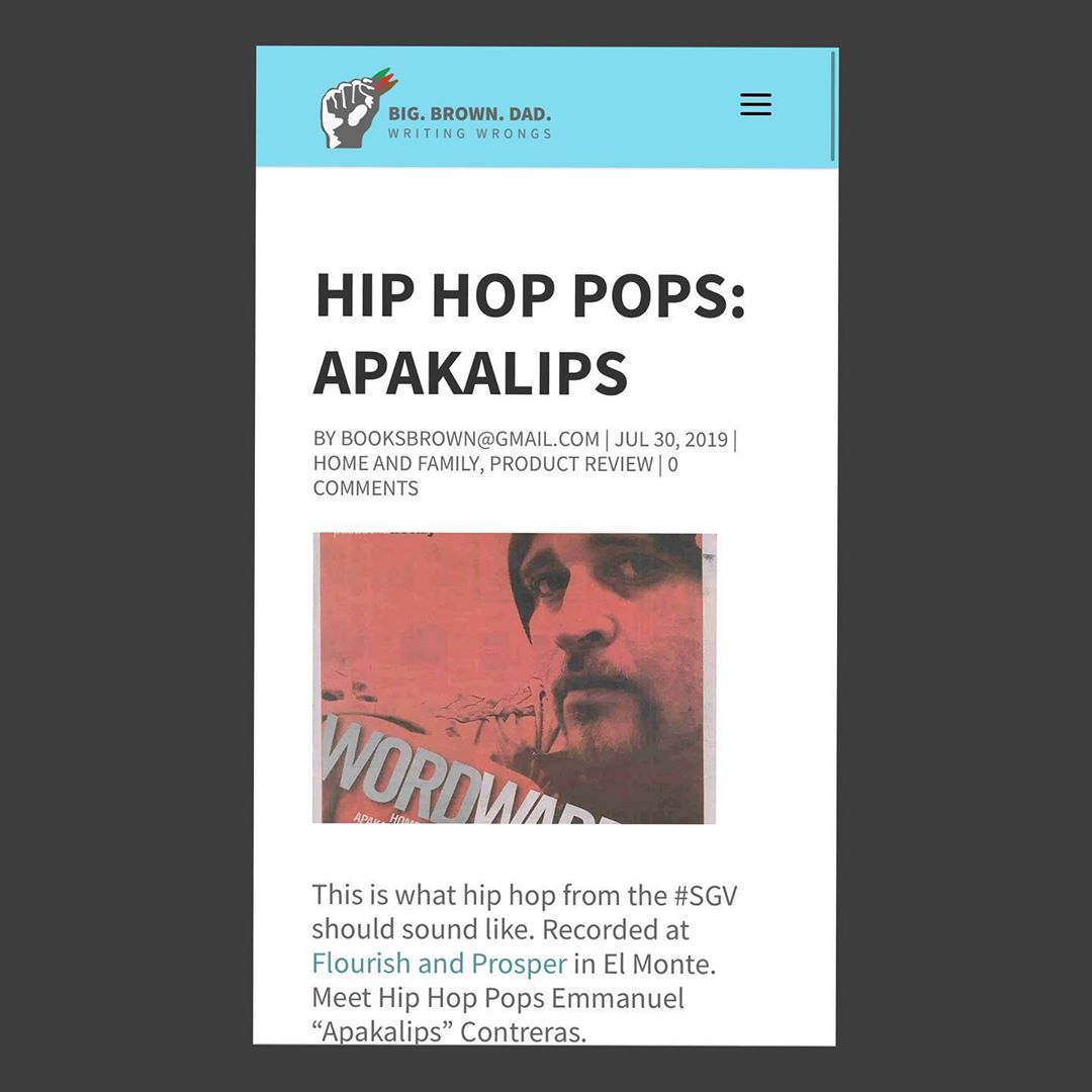 @big_brown_dad features @apakalips in his latest blog - check it out  Hip Hop Po... 1