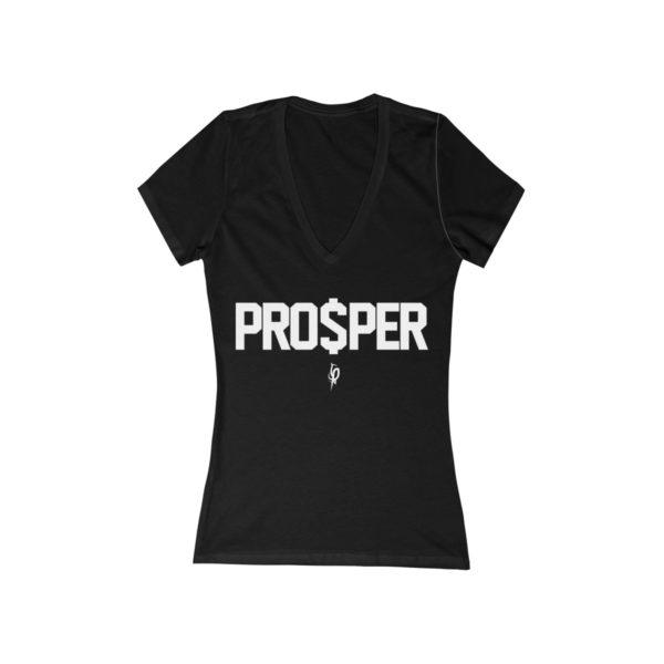 Women's Flourish and Prosper PRO$PER Jersey Short Sleeve Deep V-Neck Tee 1