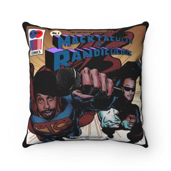 Fantastic Adventures of Macktacular and Randiculous Throw Pillow 1