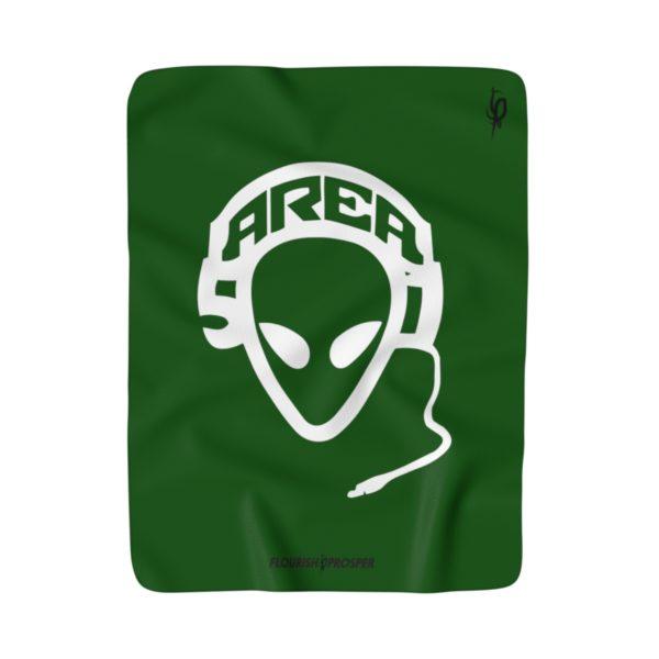 Area 51 Crew Logo Sherpa Fleece Blanket 1