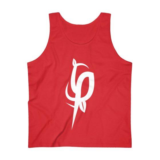 Men's Ultra Cotton Red Flourish and Prosper Logomark Tank Top 8