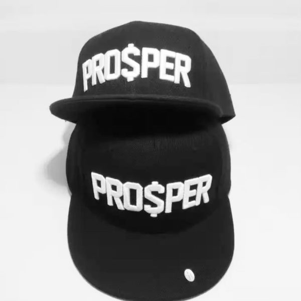 PRO$PER Black Snapback Caps Exclusive 1