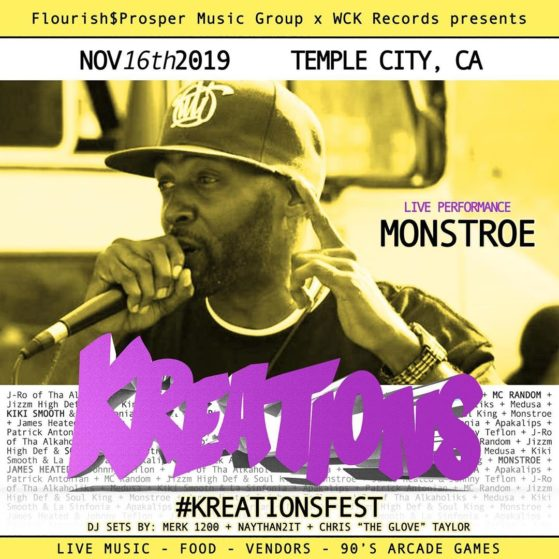 #KREATIONSFEST Saturday November 16th. Temple City, Ca. Live Music, Food, Video ...