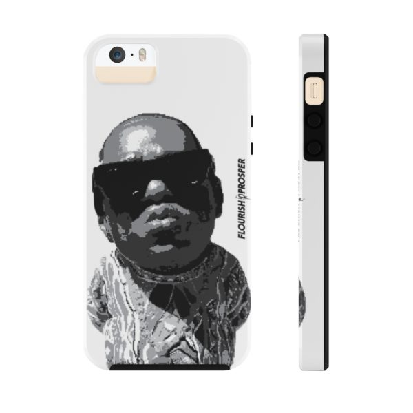 "F$P ""Baby Notorious BIG Coogi"" Black & White Custom Mobile Phone Case (iPhone) 10"