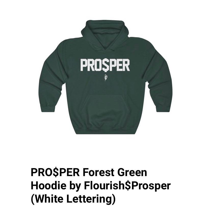 The official PRO$PER pull over hoodie in Dark Forest Green. Starting at $33 avai...